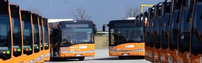 Autobus in deposito